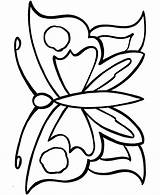 Simple Coloring Colouring Toddlers Butterfly Popular sketch template