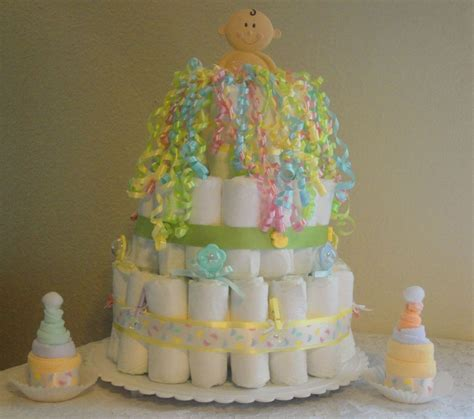 Diaper Cake 2 Washcloth Cupcakes Baby Shower Gifts