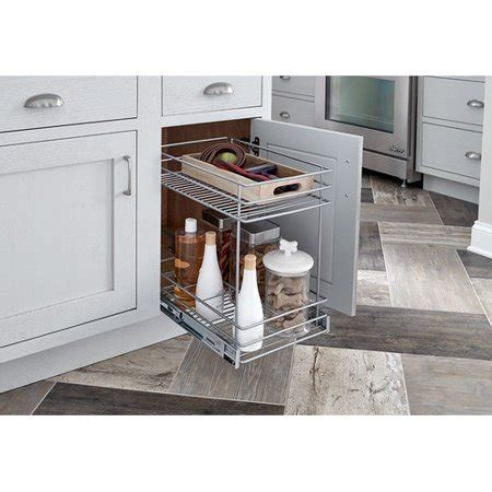 pull out walmart closetmaid 2 tier kitchen cabinet pull out basket