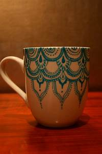 Items, Similar, To, Hand, Painted, Porcelain, Mug, With, Blue