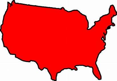 Map Usa Clip Clipart Outline States United