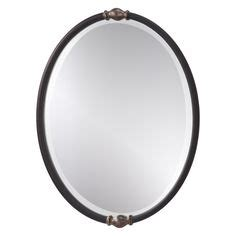 black oval bathroom mirror allen roth 24 in x 30 in rubbed bronze oval framed 1741