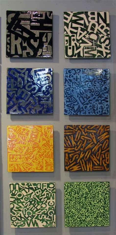 eight letterfields ceramic tile wall mural by
