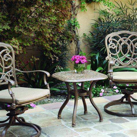 darlee elisabeth 3 cast aluminum patio bistro set darlee bistro sets shop now at the outdoor Inspirational