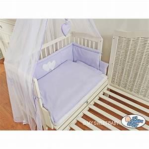 Lit D Enfant Avec Barrière : lit cododo pour b b avec parure c ur violet lit enfant ~ Premium-room.com Idées de Décoration
