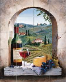 italian dreaming of tuscany kitchen tile backsplashes