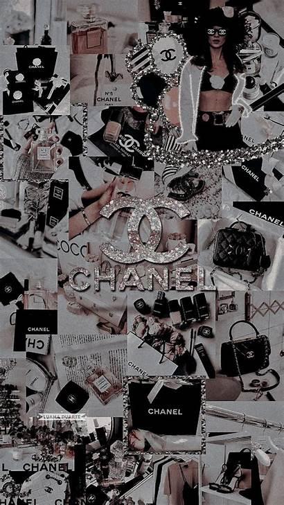 Chanel Aesthetic Lockscreen Bling Iphone Purple Phone