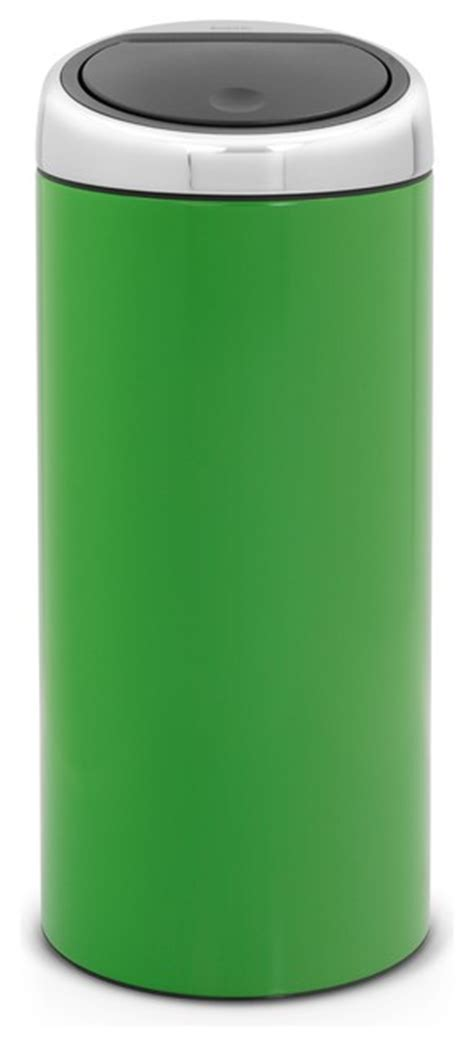 green kitchen trash can brabantia touch bin 174 8 gallon apple green modern 4031