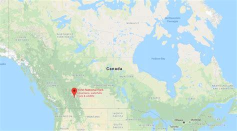 yoho national park  map  canada