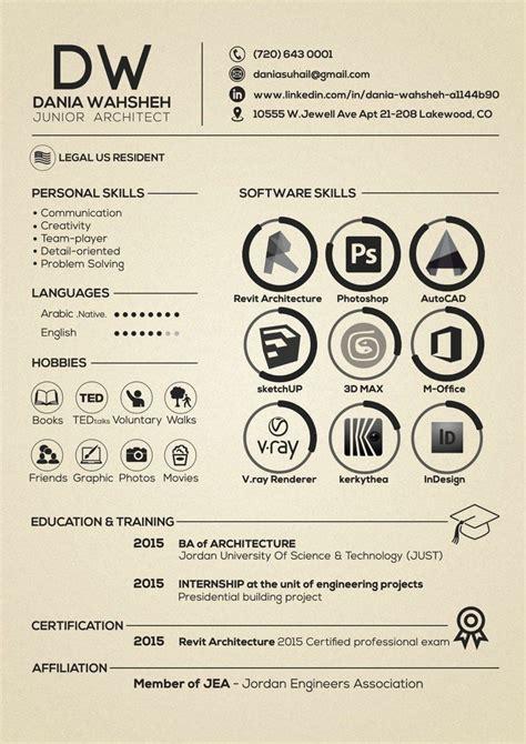 12652 creative resume templates for architects 100 unique exles of architecture resume design