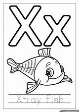Coloring Alphabet Ray Fish Letter Letters English Preschool Youngandtae Preschoolers Printables Template sketch template