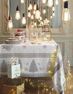 Une Dcoration De Table De Nol Lumineuse Dco De Table