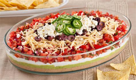 layered dip mexican layer dip recipe dishmaps