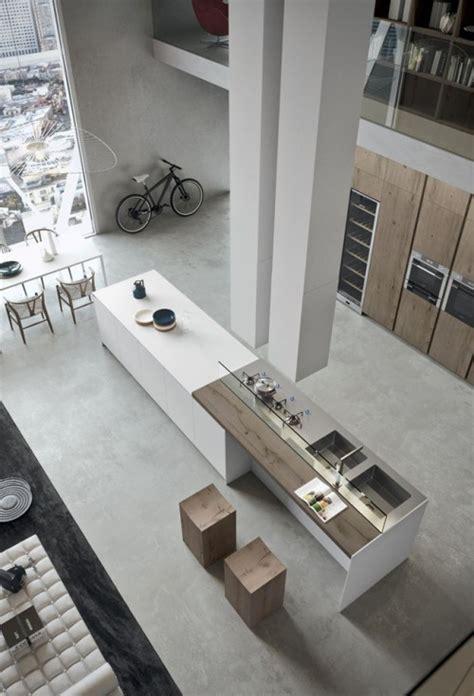 cuisine style loft cuisine moderne avec grand ilot central dans un loft