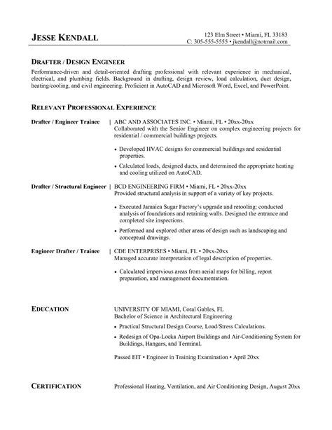 Junior Drilling Engineer Resume by 3 Maintenance Engineer Resume Sles Exles Simple Resume Template
