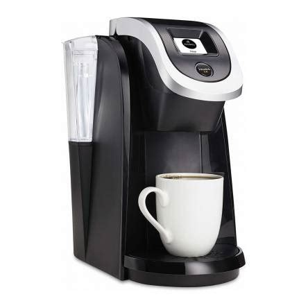 If water is needed, small blue add water light is on , add water to reservoir in back. Keurig K200 Compact Plus Series Coffee Maker (Black ...