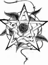Pentagram Witchcraft Tattoo Wiccan Tattoos Pentacle Drawing Pentagrams Drawings Celtic Rose Pagan Witch Coloring Deviantart Wicca Sketch Cool Pages Designs sketch template