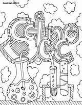 Coloring Science Pages Lab Doodle Popular sketch template