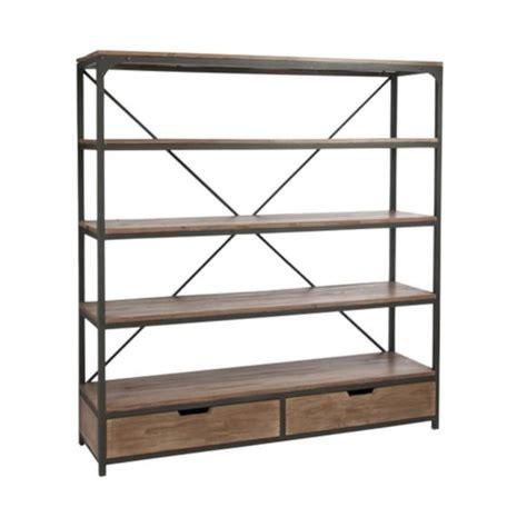 etagere industrielle bois metal design and vintage grande 233 tag 232 re industrielle en bois