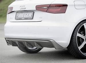 Audi A3 8v : audi a3 8v 12 16 rieger rear diffuser carbon look ~ Nature-et-papiers.com Idées de Décoration