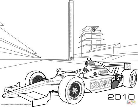 Indy Race Car coloring page Free Printable Coloring Pages