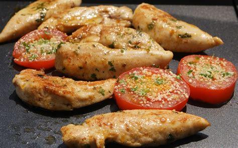 plancha d aiguillettes de poulet marin 233 es aux fourneaux