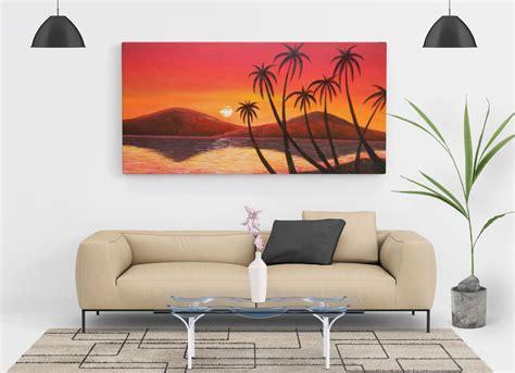 Free Living Room Painting Wall Canvas Mockup Psd  Good Mockups