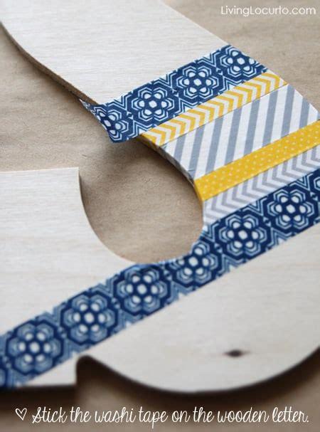washi tape wall art diy craft