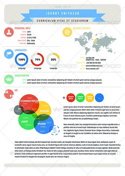 25 infographic resume templates free premium collection