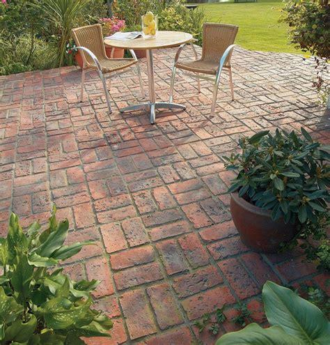dble basketweave patio brett paving manmade paving