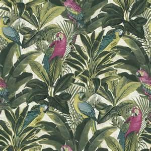 Papier Peint Tropical Birds by Grandeco Ideco Exotique Oiseau Motif Perroquet Tropical