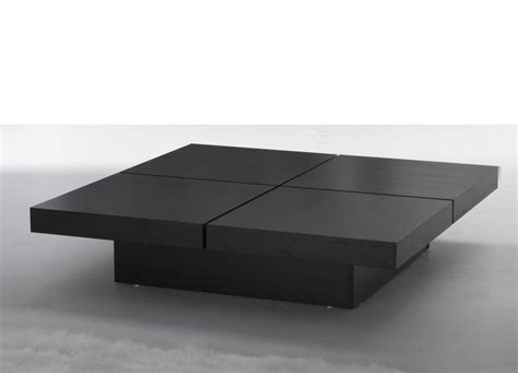 Coffee Table. Excellent contemporary wood coffee table: mermerizing black square contemporary