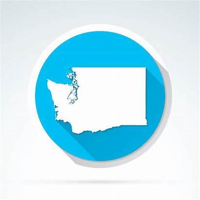 Washington Icon Vector Map Flat State Shadow
