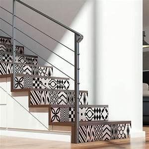 Escalier Carreaux De Ciment : stickers escalier carreaux de ciment torborg x 2 ambiance ~ Dailycaller-alerts.com Idées de Décoration