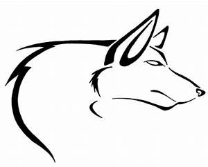 Simple outline dog tattoo design by Pretty Red Wolf ...