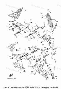 Yamaha Side By Side 2015 Oem Parts Diagram For Front Suspension Wheel