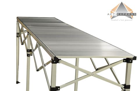 table pliante hauteur rglable 2 85m x 58cm plateau