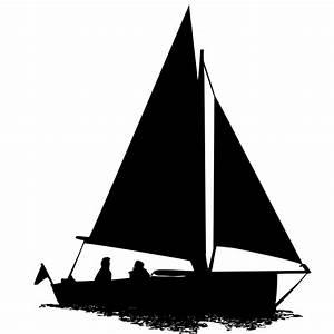 Sailing Boat Silhouette Clipart Free Stock Photo - Public ...