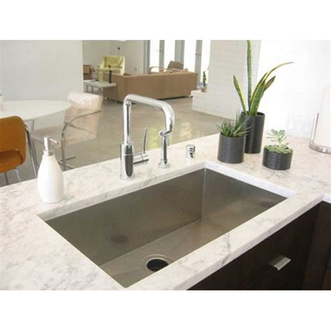 zero radius kitchen sink 30 inch stainless steel undermount single bowl kitchen 1709