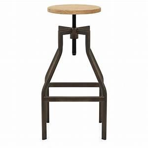 Tabouret Bar Vintage : chaise de bar bois vintage revolution monde du tabouret ~ Preciouscoupons.com Idées de Décoration