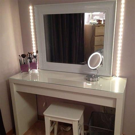 vanity table with lighted mirror ikea vanity table with mirror and bench ikea vanities
