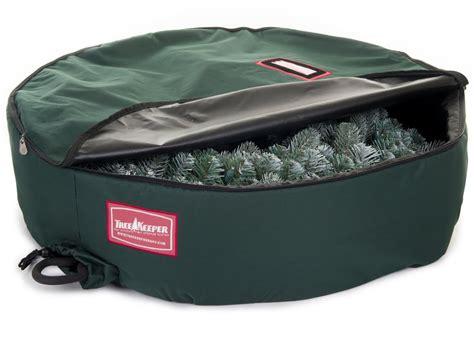 christmas wreath storage bag in holiday wreath storage