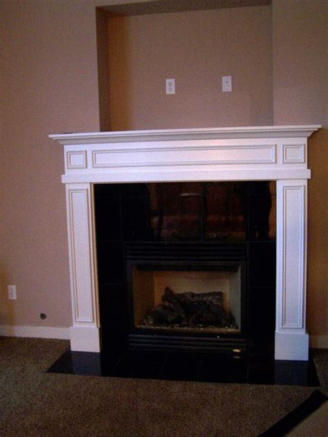 Hang A Tv A Fireplace by Before After Mantel Covering The Tv Niche Above The