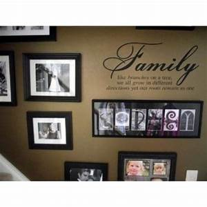 family like branches on a tree vinyl lettering wall With family lettering wall art