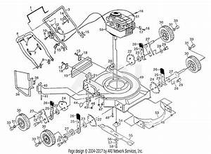Poulan Pp2035 Mower Parts Diagram For Assembly