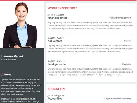 Website For Resume by Introduction Personal Resume Website Template By