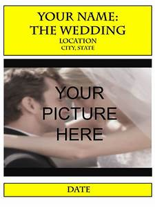 Custom Wedding Playbill Template by HappilyCraftyAfter on Etsy