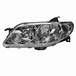 2002 2003 Mazda Protege 5 Hb Headlight Head Lamp Aluminum
