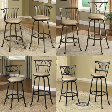 Microfiber Bar Stool - two metal adjustable 24 29 quot h microfiber seat swivel
