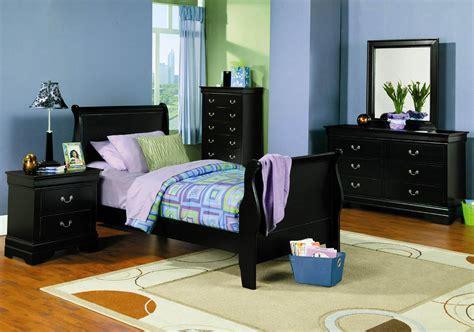 coaster louis philippe black twin pc bedroom set dallas